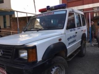 ネパールの救急車